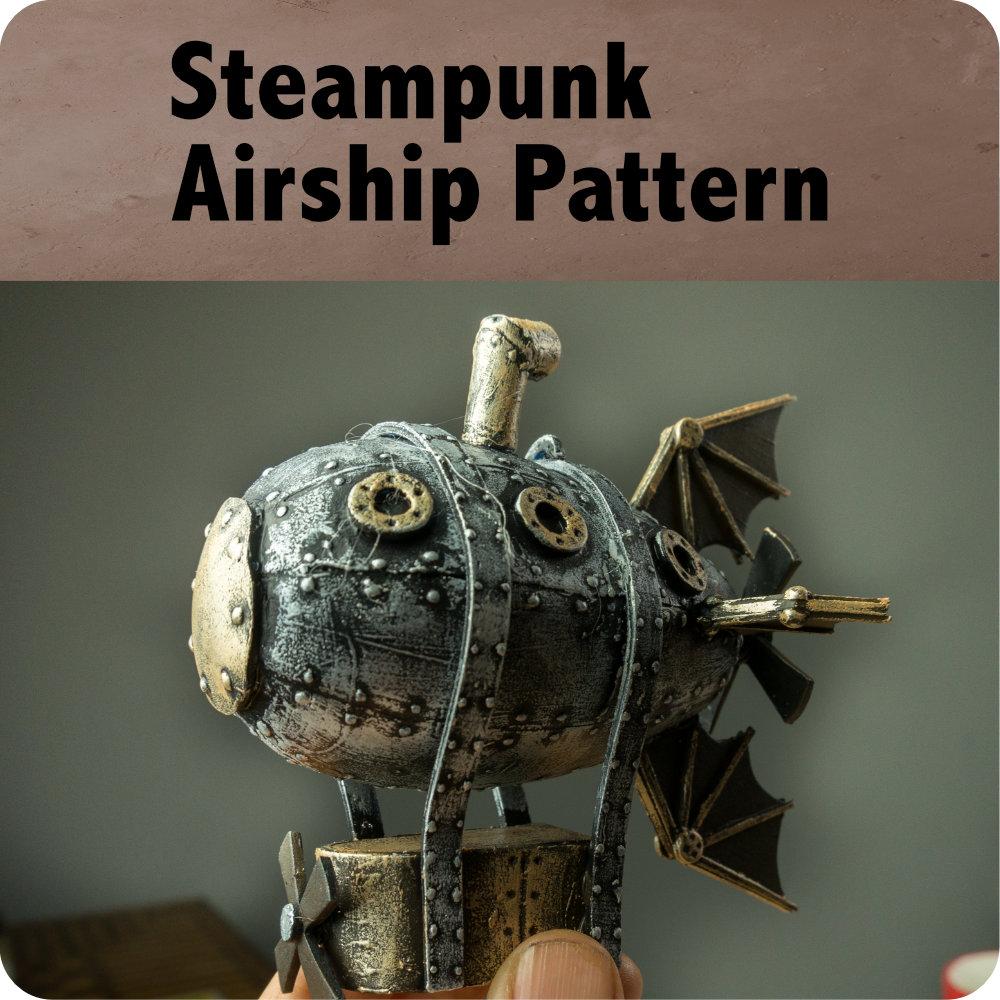 Steampunk Airship Pattern Photo