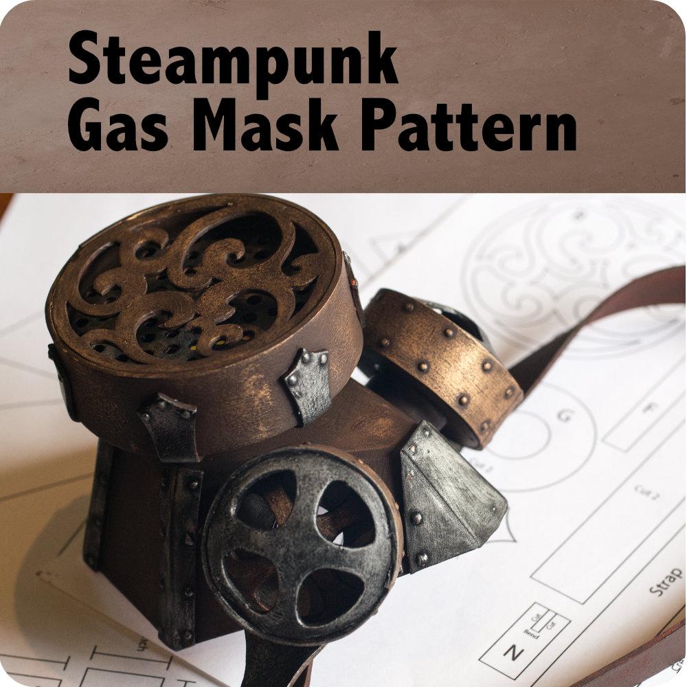 Steampunk Gas Mask Pattern Photo