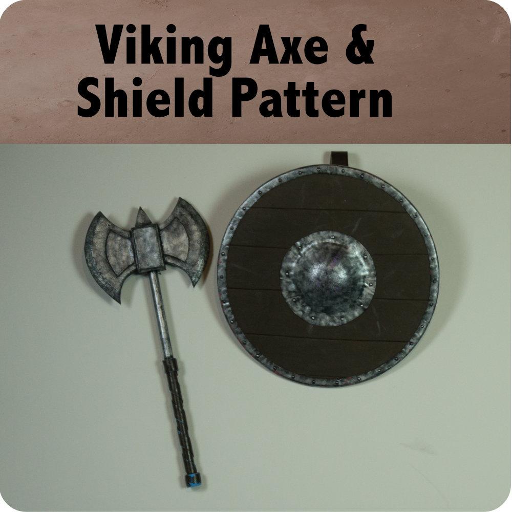 Viking Axe and Shield Pattern Photo