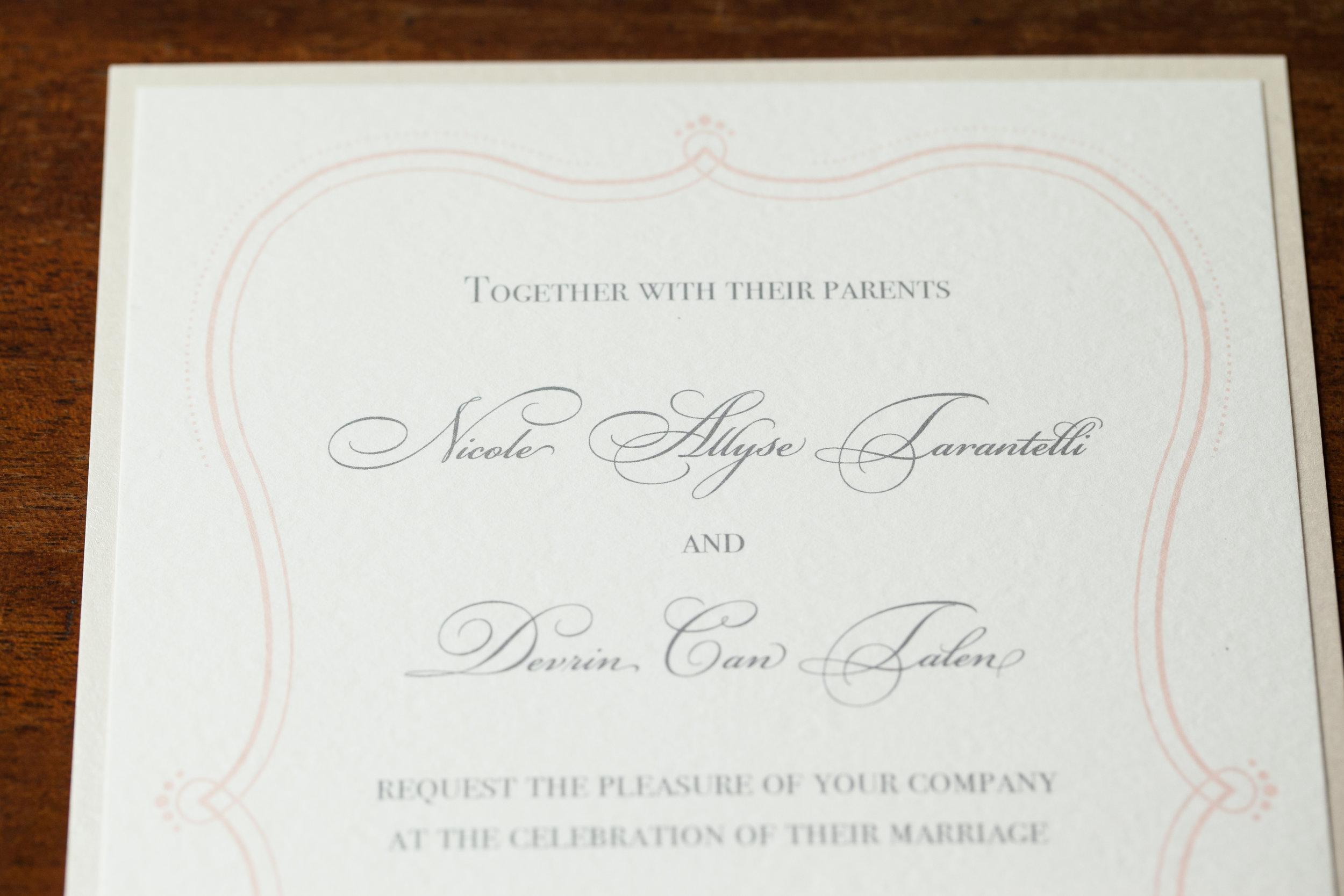 Wedding Invite Closeup