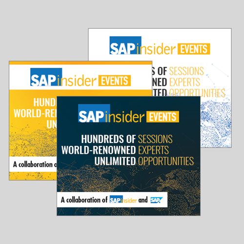 Web Ad Set Promoting SAPinsider Events