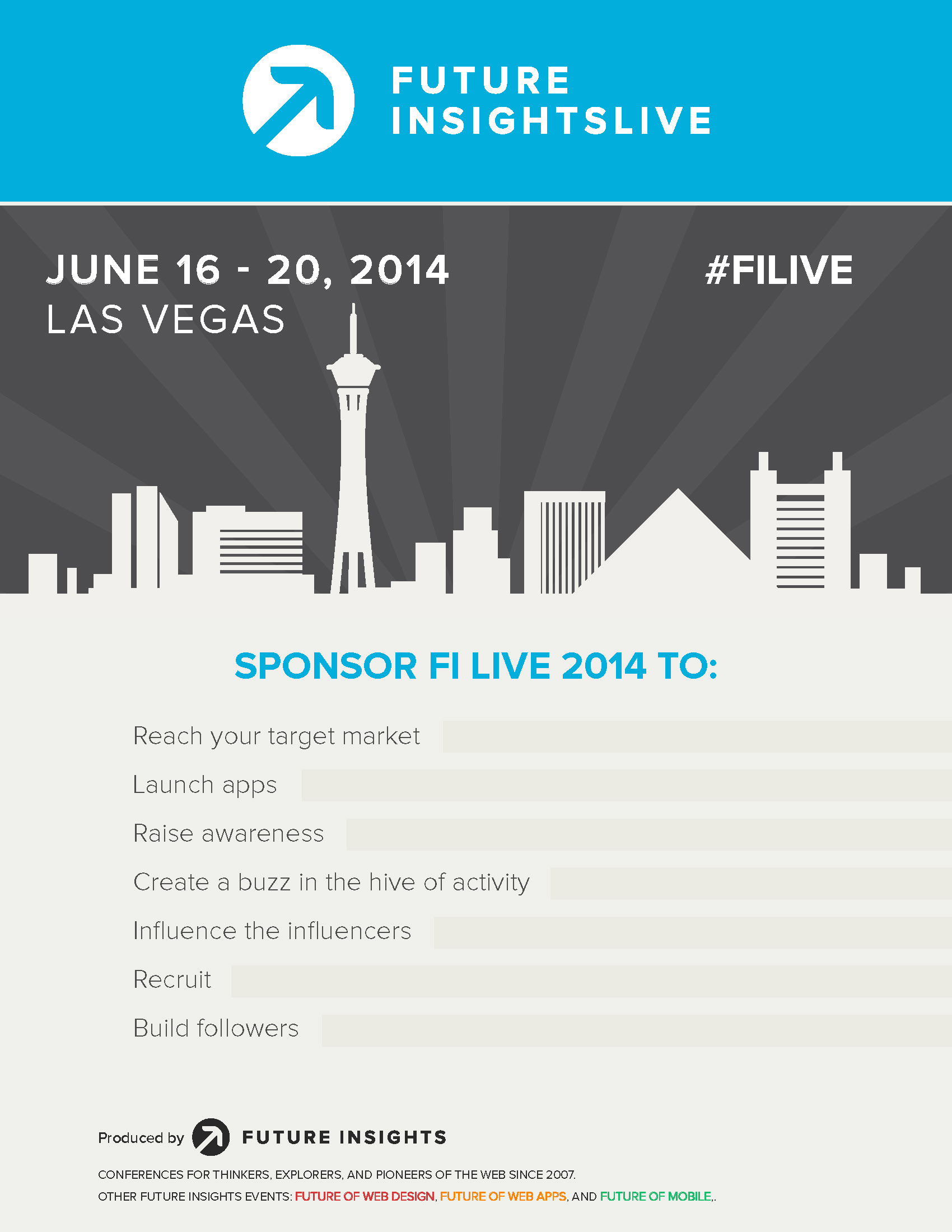 Brochure for Future Insights Live Event (Click Image for Full Brochure)