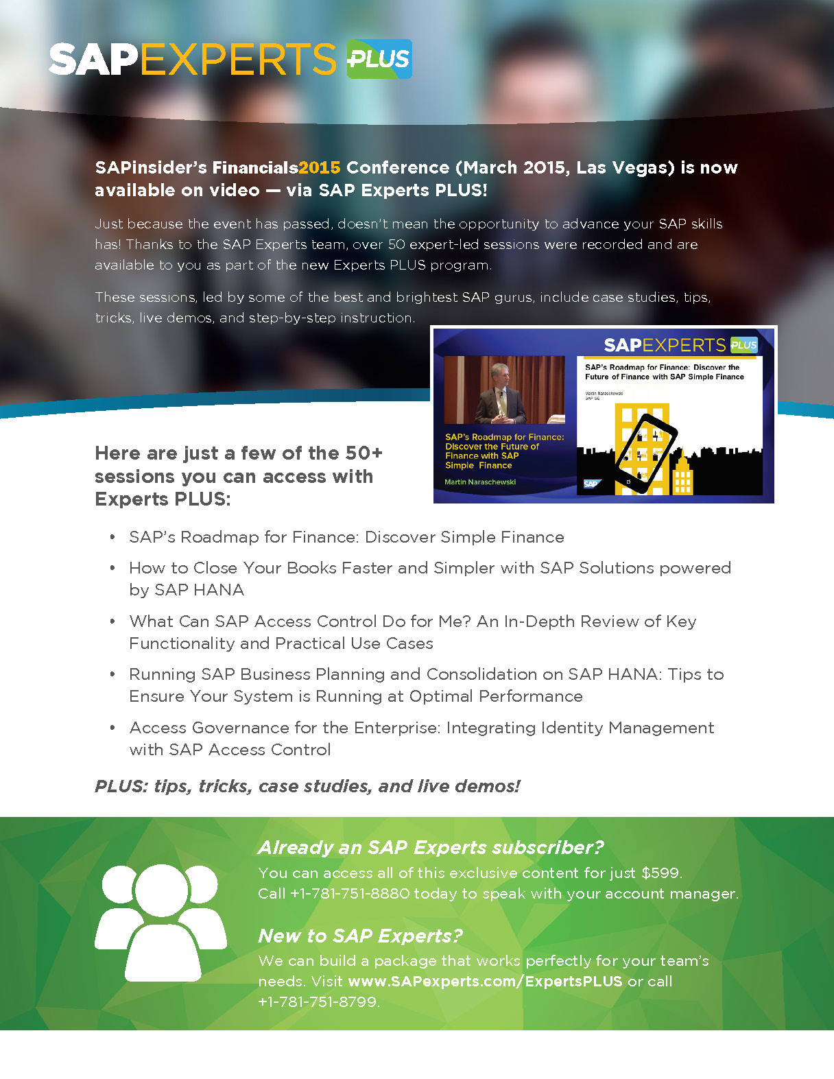 Flyer for SAP Experts Plus