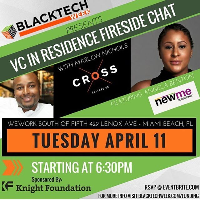I'm all ears when @abenton speaks!  Join us tomorrow! Get a chance to hear all about her journey, recent fight with cancer, and why she decided to relaunch NewME Accelerator in Miami!  RSVP at Eventbrite or BlackTechWeek.com