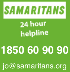 Samaritans  24Hour Helpline 1850 60 90 90