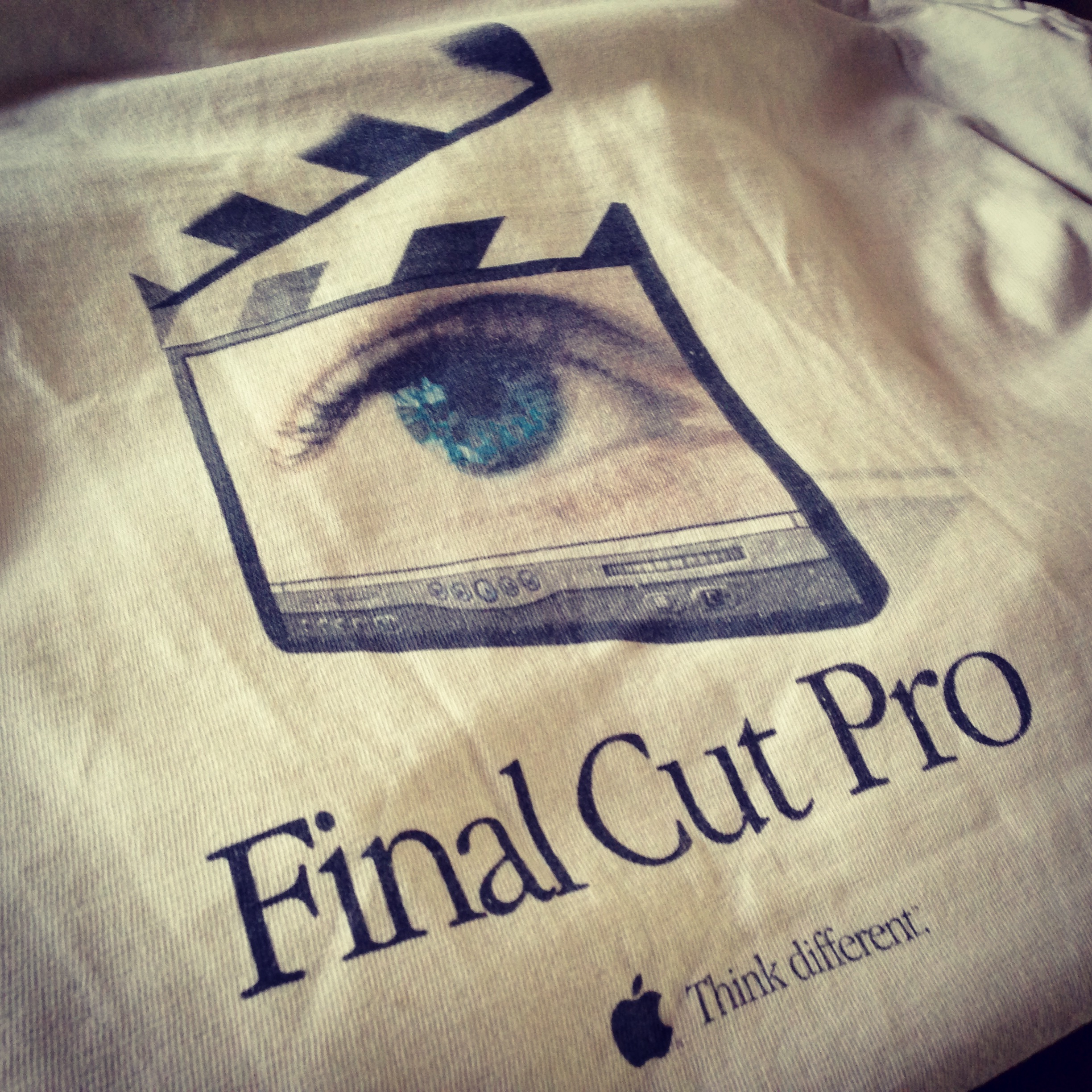 Final Cut Pro 1 Thank You survey T-shirt from Apple