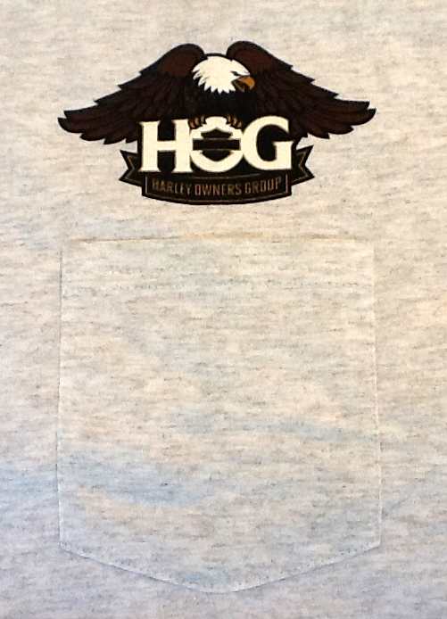 Ash Gray T-Shirt / Front /   logo over pocket