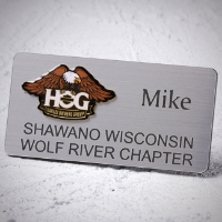 Chapter Name Tag - Magnetic back (example shown) - $8.00