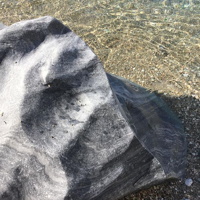 Marble on the beach