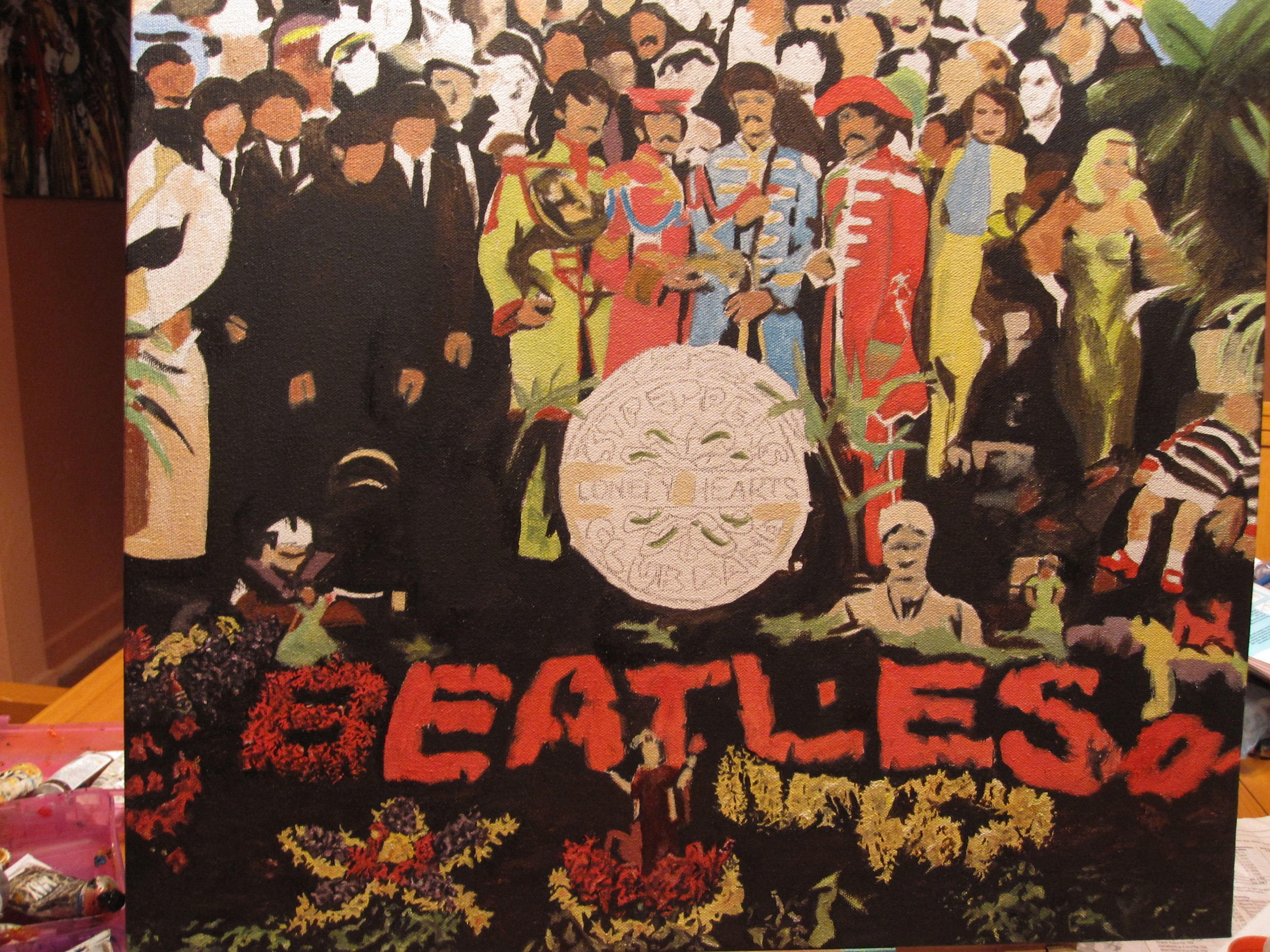 Continuing to add detail to Sgt. Peppers.