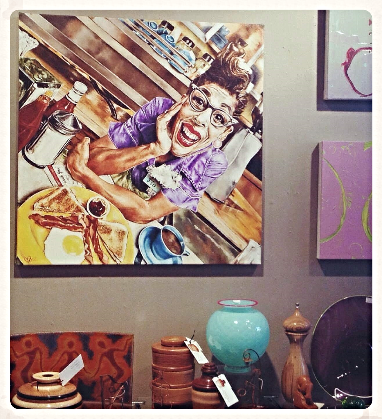 """Giclee Print of """"Flo"""" on display and for sale in the Pittsburgh Center For The Arts"""