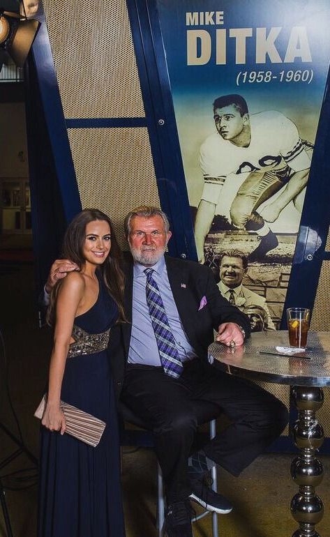 Kait with Former NFL Coach Mike Ditka. Photo by Lovas Photography