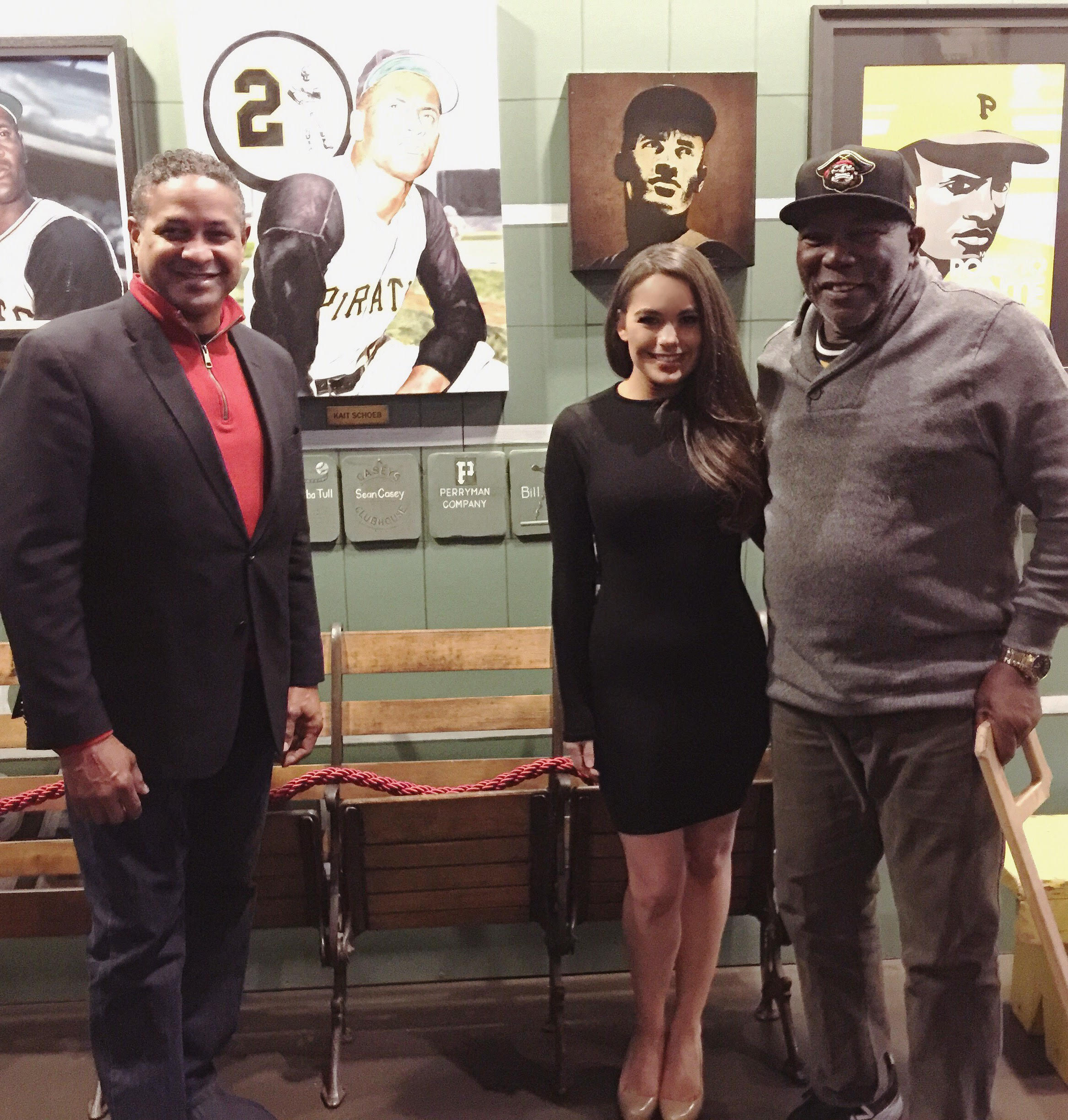 Roberto Clemente Jr, Kait, former Pittsburgh Pirate Manny Sanguillén