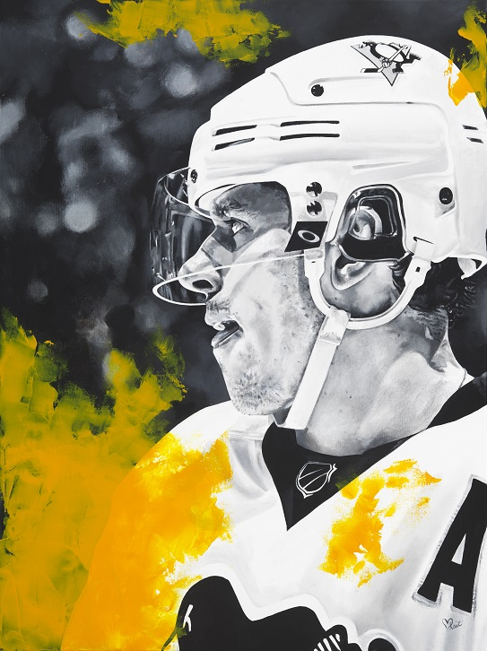 """71"" Evgeni Malkin 30inx40in Acrylic on Canvas"
