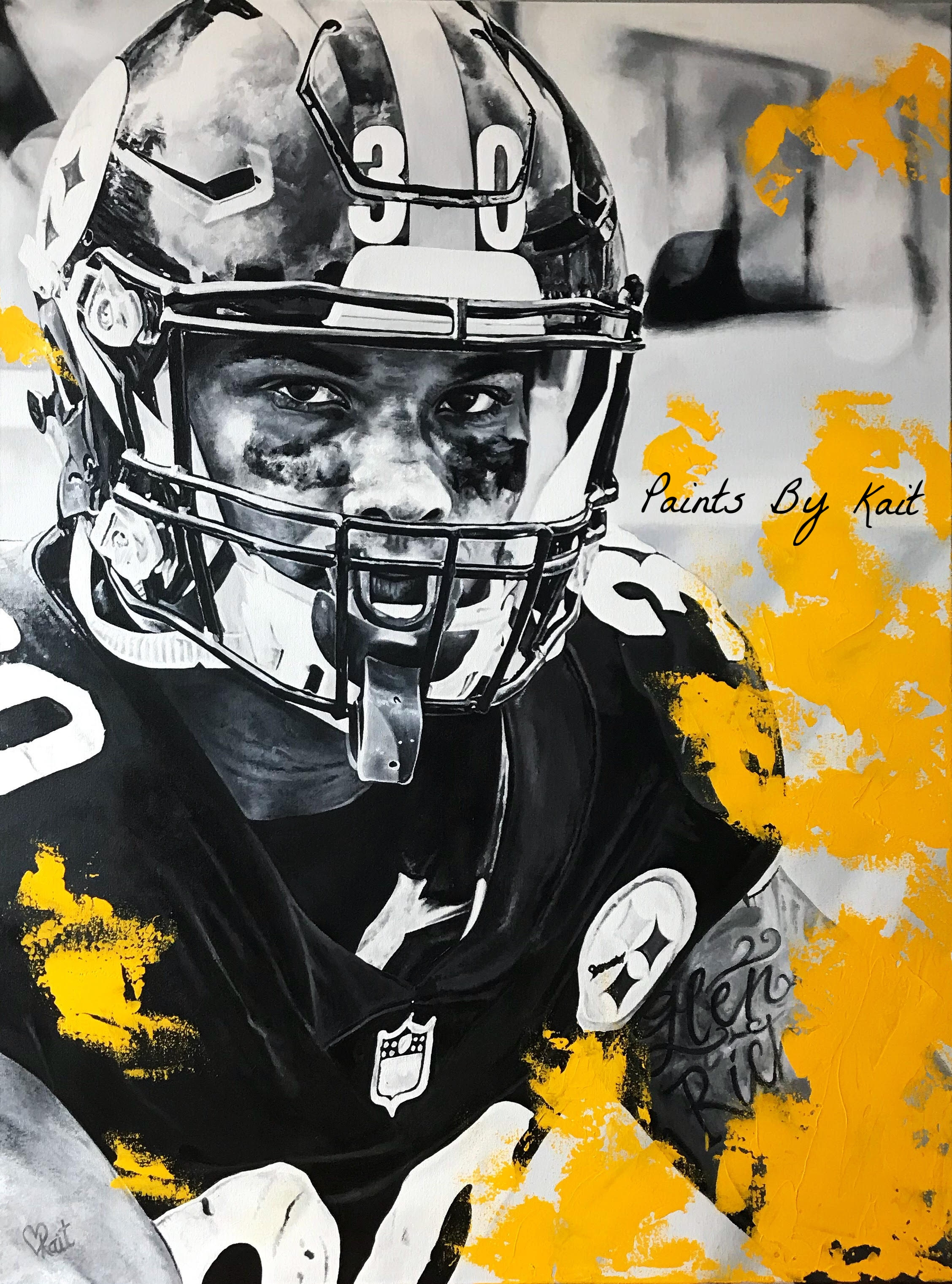 """ James Conner"" Acrylic on Canvas 3ftx4ft"