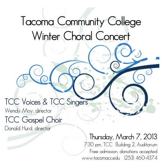 TCC Winter Concert Poster