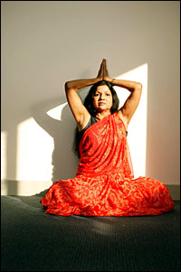 Swami Sarasvati still practising yoga - if only she knew that I watched her from the age of eight!