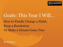 Setting Goals is a challenge - find some relief within these pages.