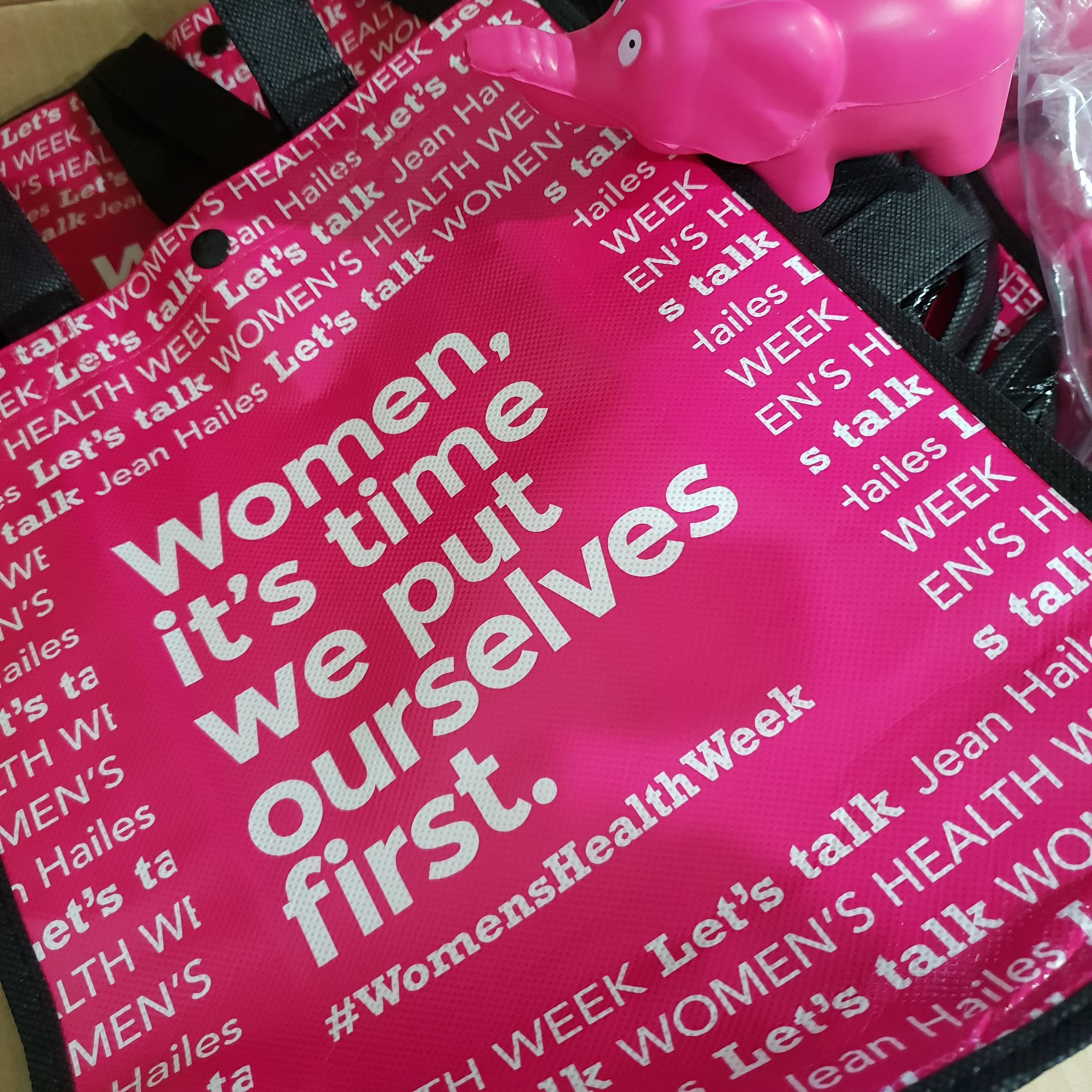 Our work this month supports promoting #WomensHealthWeek - Women, it's time we put ourselves first.