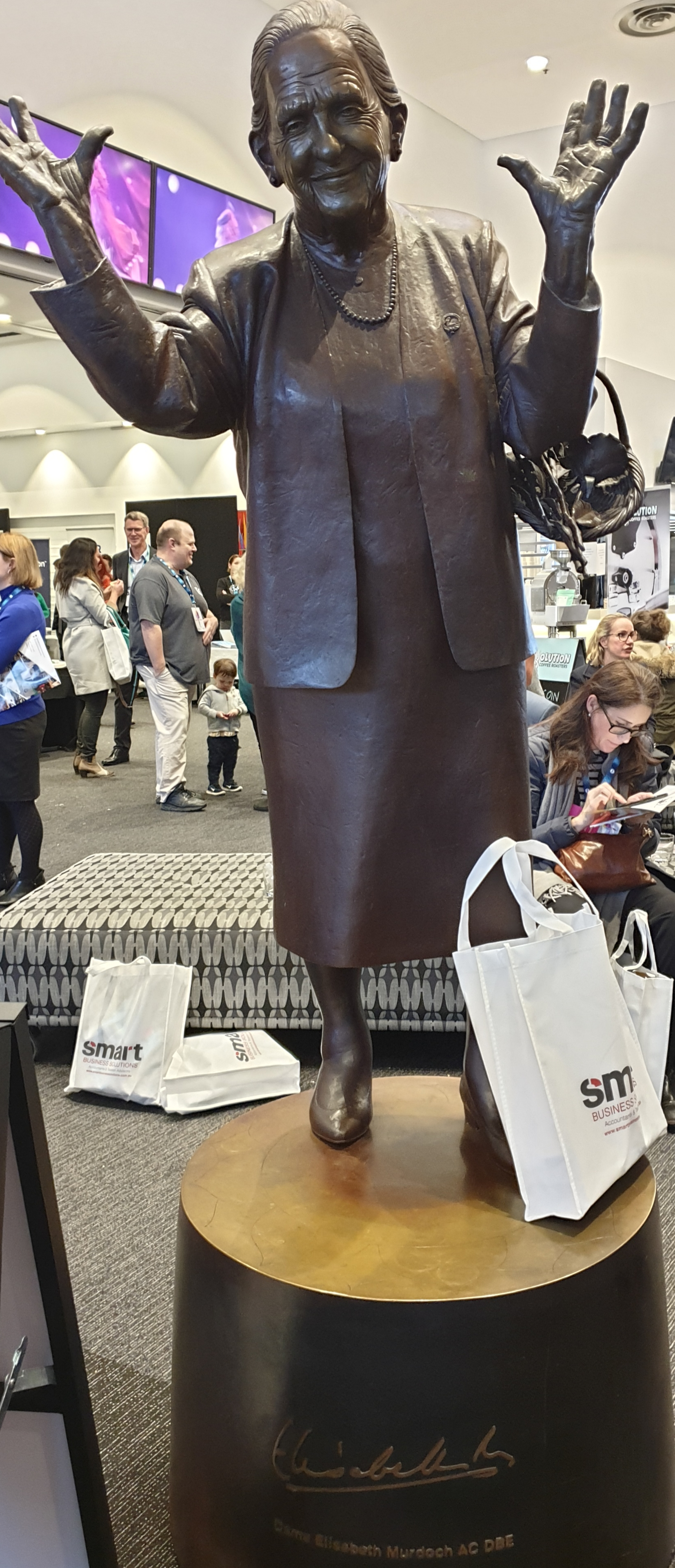 A great statue of a great women … who no doubt contributed to the Frankston Art Centre where the BITE Business Conference was hosted, sponsored by Frankston City Council.