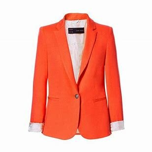 A gorgeous orange Zara jacket!