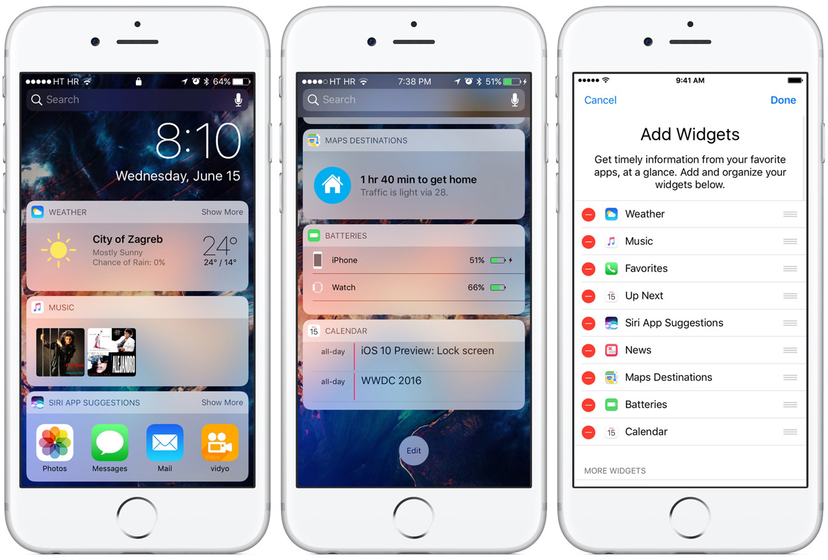Shown here is the Today screen as it appears now in iOS 10.This currently under-utilized real estate would be a great place to surface contextual recommendations related to your health and fitness. (Image credit: iDownloadBlog.com)