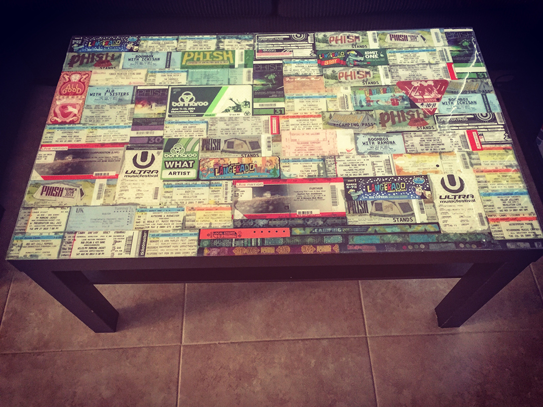 Diy Ticket Stub Coffee Table Rouse House Design