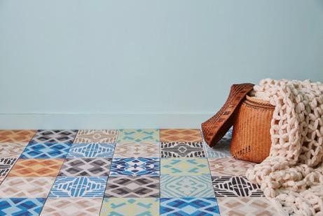 Patterned cement tile floors
