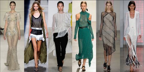 Expressing individualism is in!!! Having fun with style trends by mixing and matching, patterns and textures, soft and hard edges, fringe and netting is on trend this Spring and I predict will show up in Fall fashions as well.