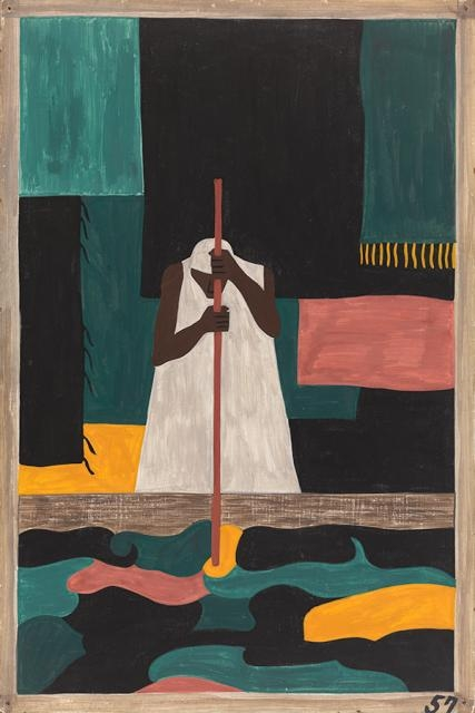 Migration series #57 by Jacob Lawrence