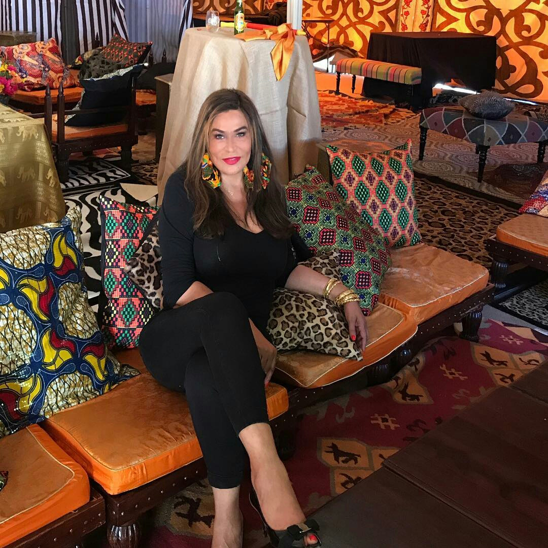 Beyonce's mom at the push party opened debate on the continent about the use of Dutch wax as the main ingredient for an Africa décor theme.  -
