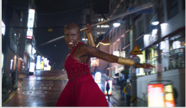 Danai Gurira as the leader of Wakanda's special forces team, the Dora Milaje/ Marvel/AP