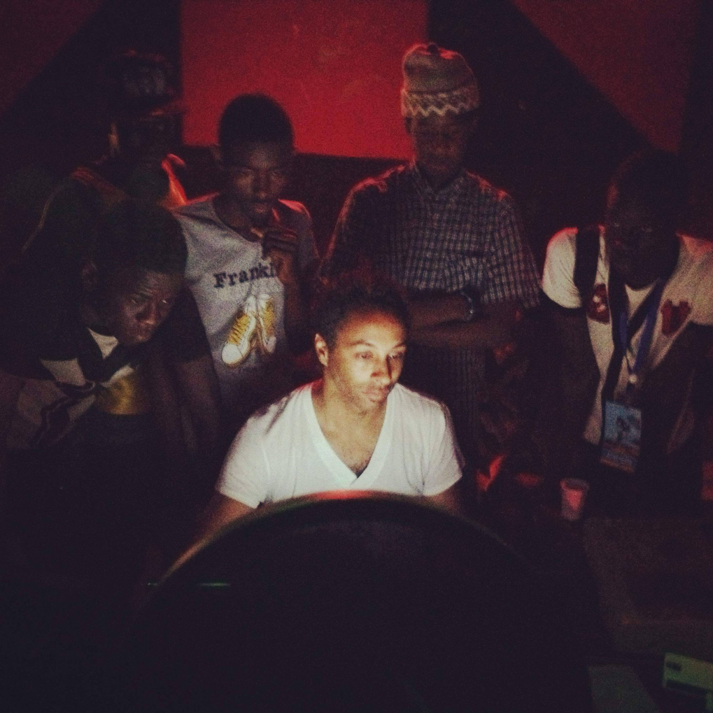 I was working in Mauritania with producers from Mali, Morocco, Senegal and more. The kids in the back were in awe about the software that was being used to record and produce music.