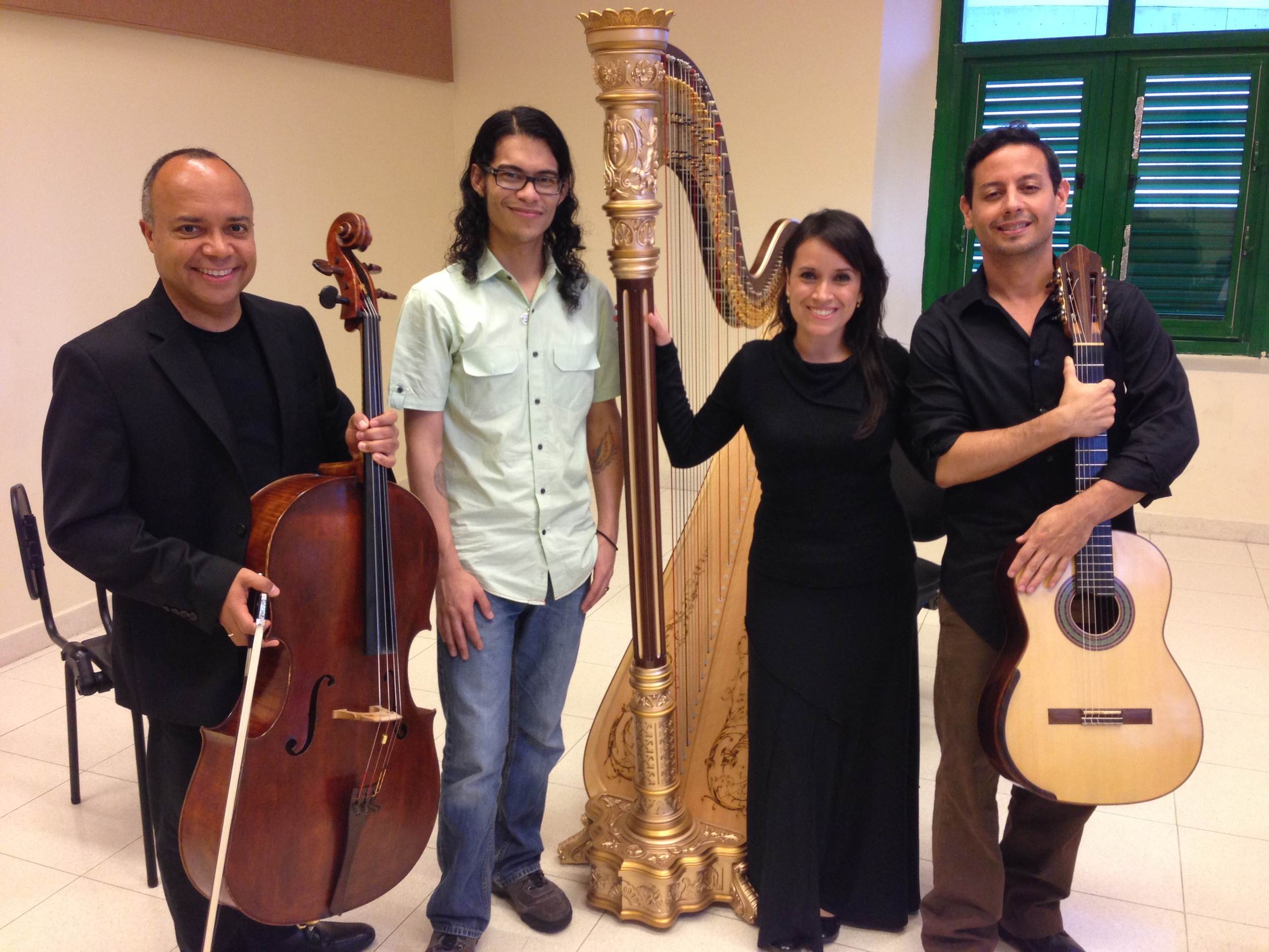 Junto a Luis Miguel Rojas, Iván Enrique Rodríguez y Ramsué López en la grabación de Exodo II.