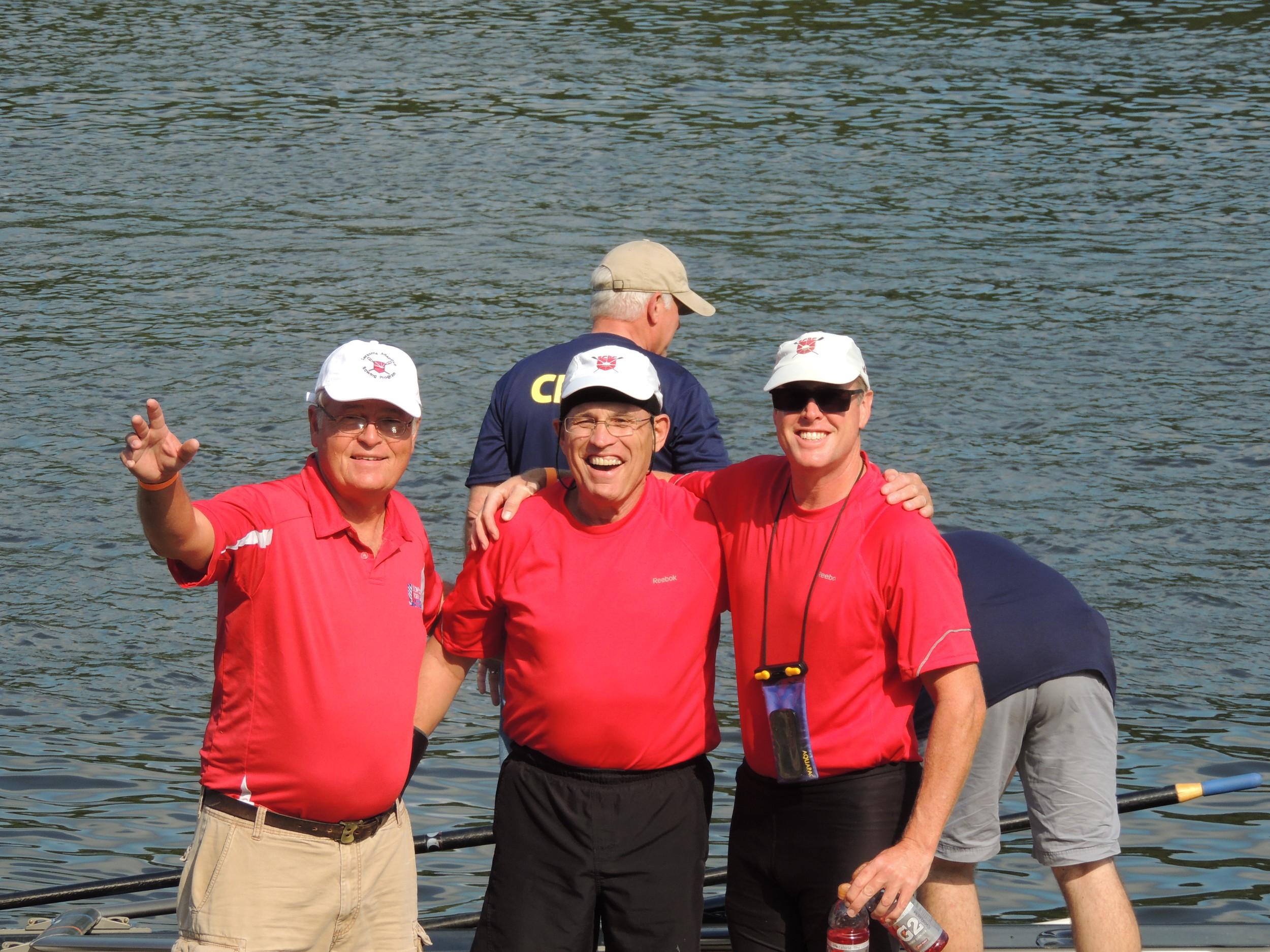 Joe Dobson, Jack Gerber and Todd Yeomans at the 2012 Bayada Regatta.