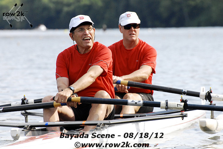 Jack Gerber and  Todd Yeomans  competed in the Novice LTA Double at the 2012 Bayada Regatta.