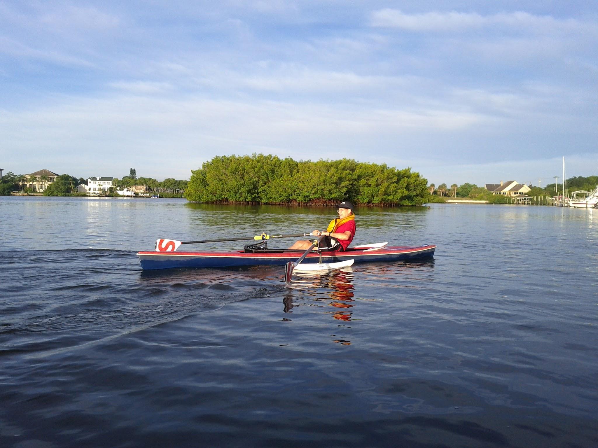 Jack Gerber rowing his adaptive single at the 2012 Sarasota 5000!