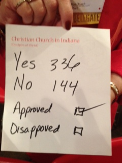 Vote on the Indiana Resolution