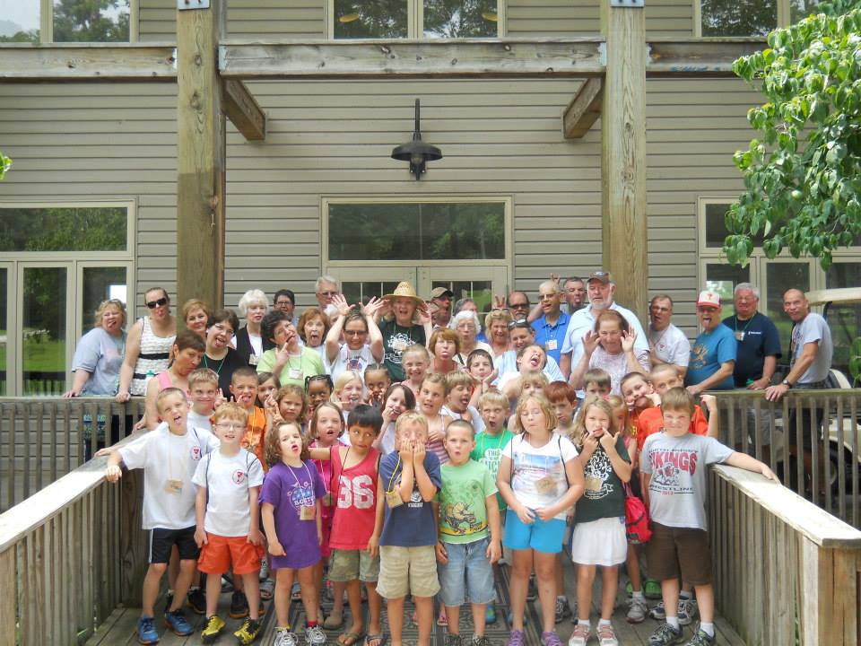 """Our """"silly-faced"""" picture from 2013 Grandparent and Me Camp        It was used by The Indiana Region in their camp promotion to encourage people to come to camp."""
