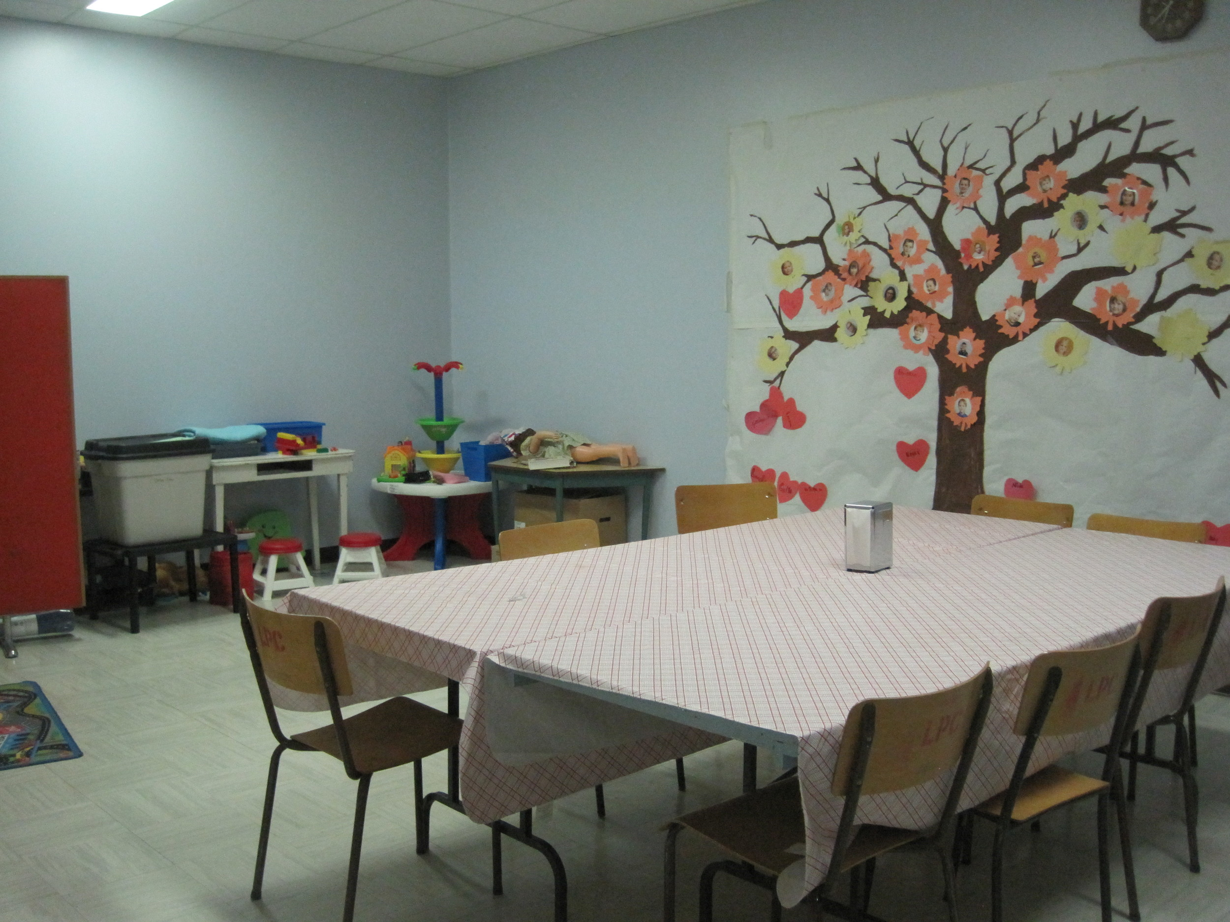 This is our Grade 1-4 Sunday School room!