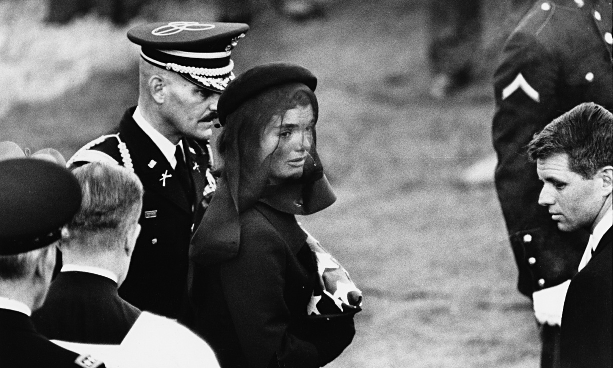 Jacqueline Kennedy at John F Kennedy's funeral in Arlington, Virginia, 25 November 1963. Photograph: Elliott Erwitt/Magnum Photos