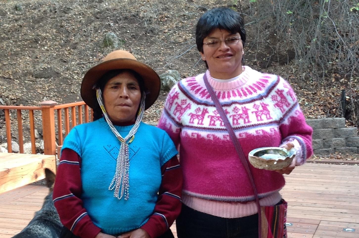 DONA ASUNTA Q'UISPE (left) and KARINA DAVALOS CONCHA (right)