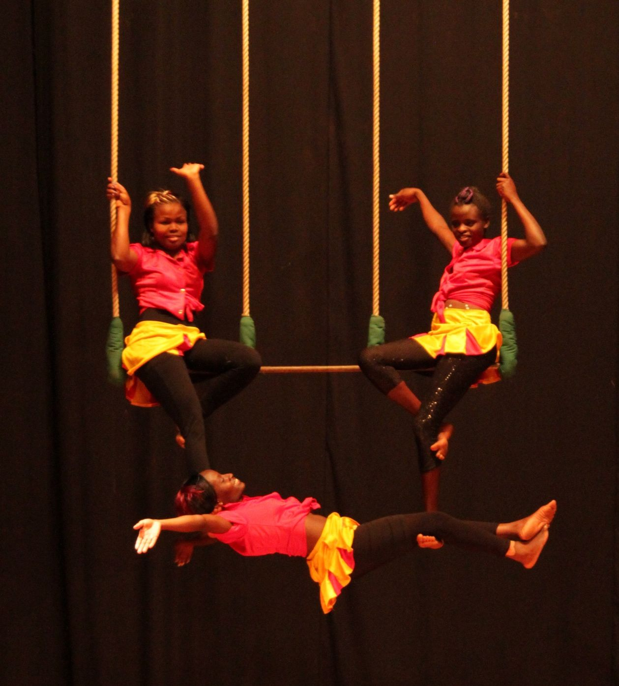 Joy, Hilda and Nancy on the trapeze.jpg