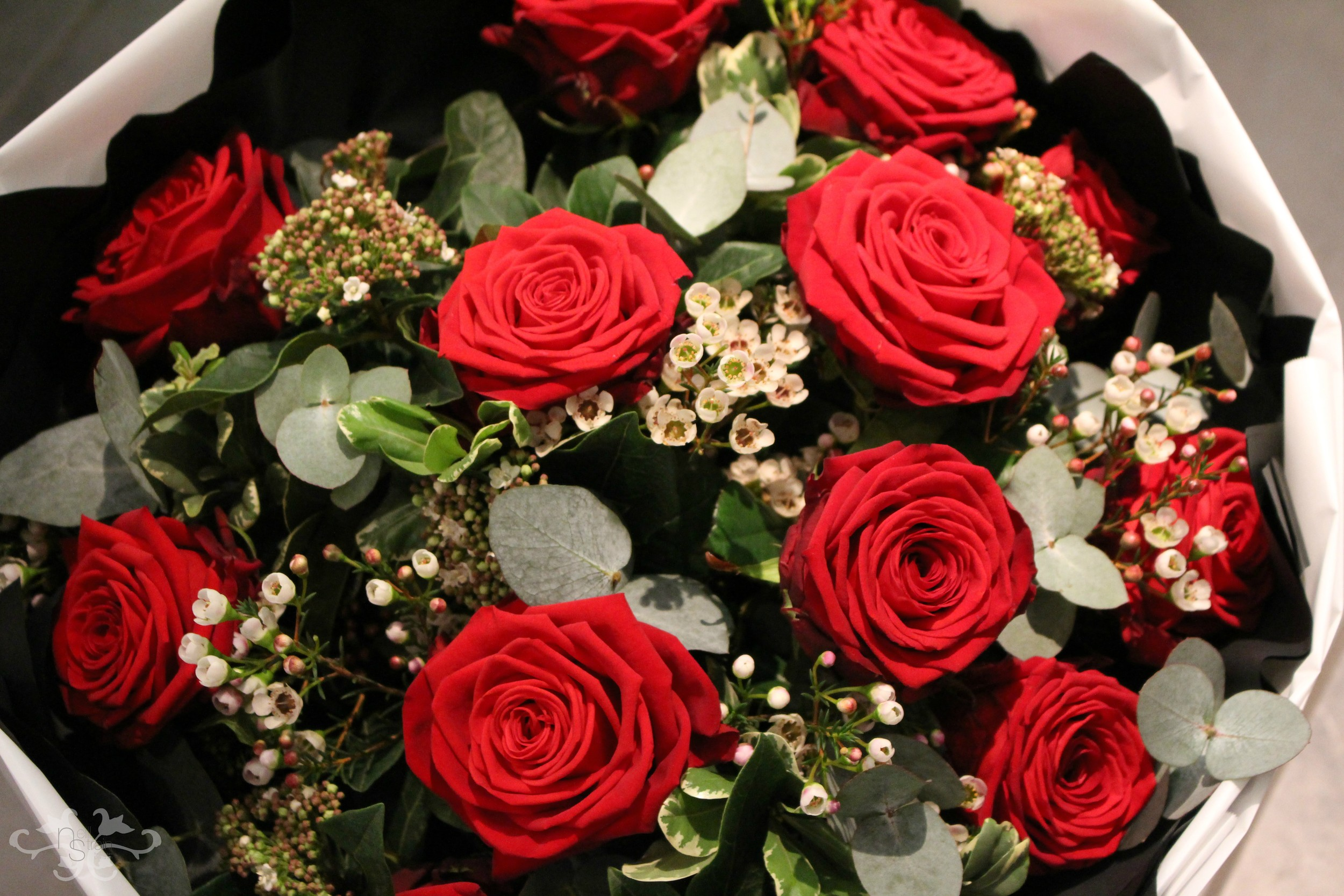 "For Valentine's Day, all our Red Roses are ""Red Naomi"" as only the best will do."
