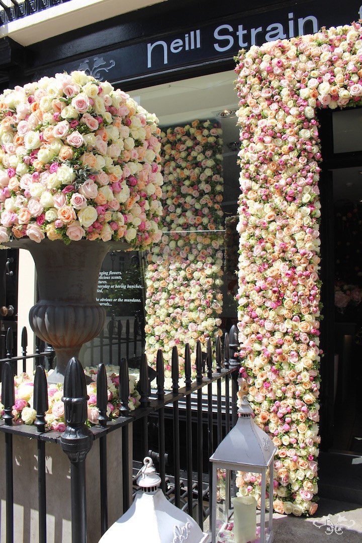 Rose installation by Neill Strain at The Flower Lounge for 'A Celebration of the Rose' in conjunction with RHS Chelsea Flower Show 2015