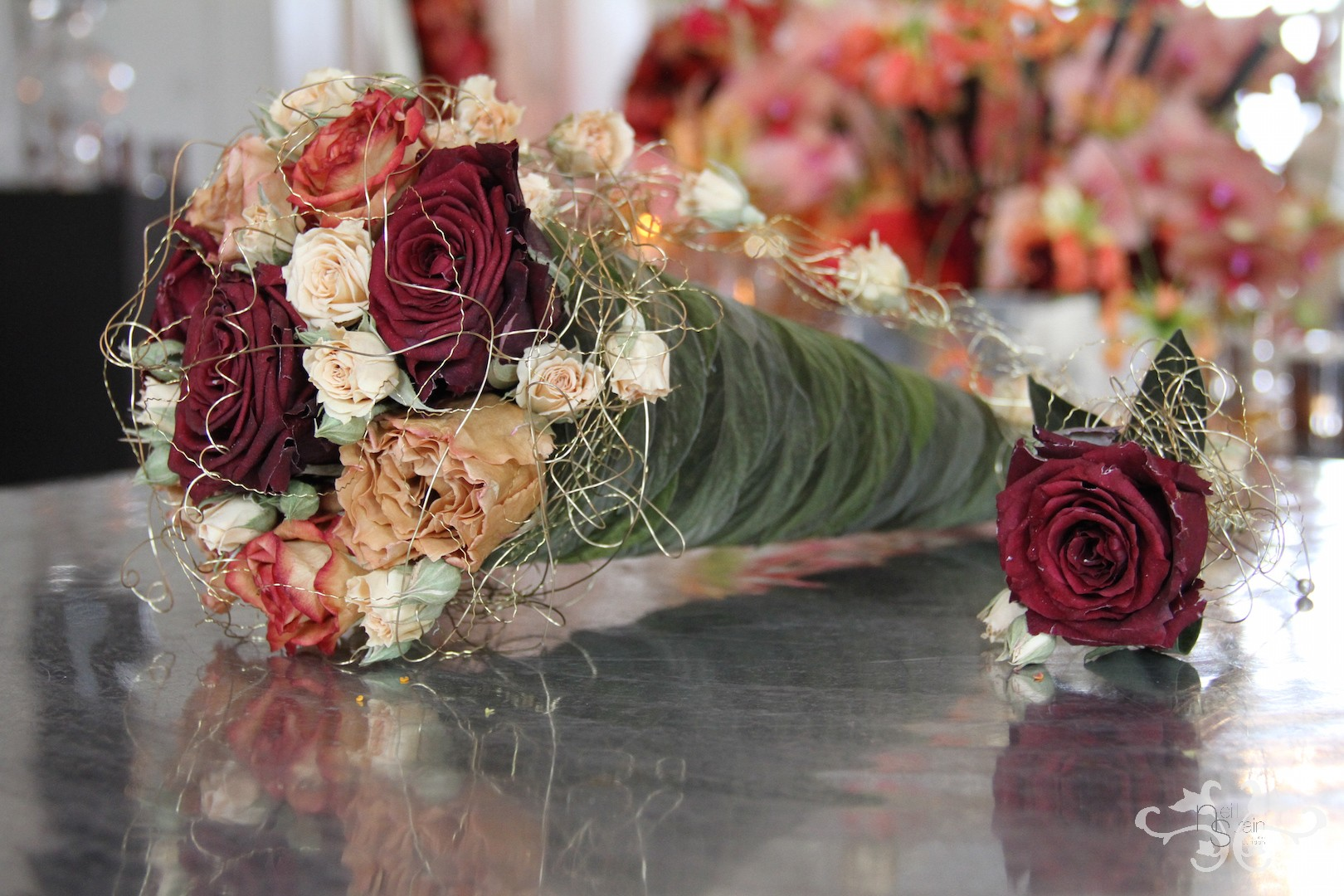 bridal bouquet and button holes.JPG