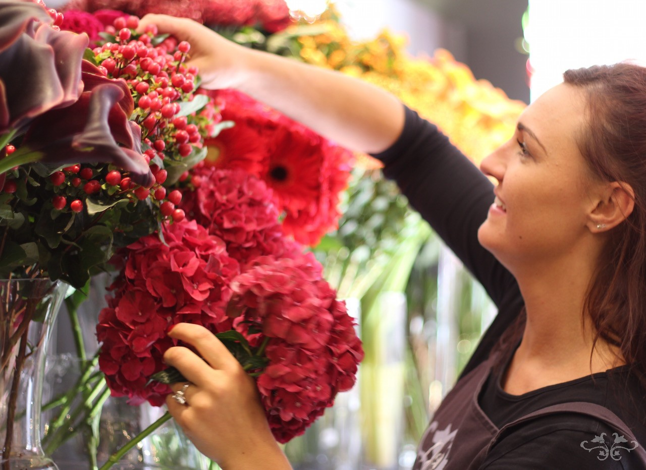 Creating something unique, some Neill Strain floral couture, for a customer seeking to make a very personal message with flowers.