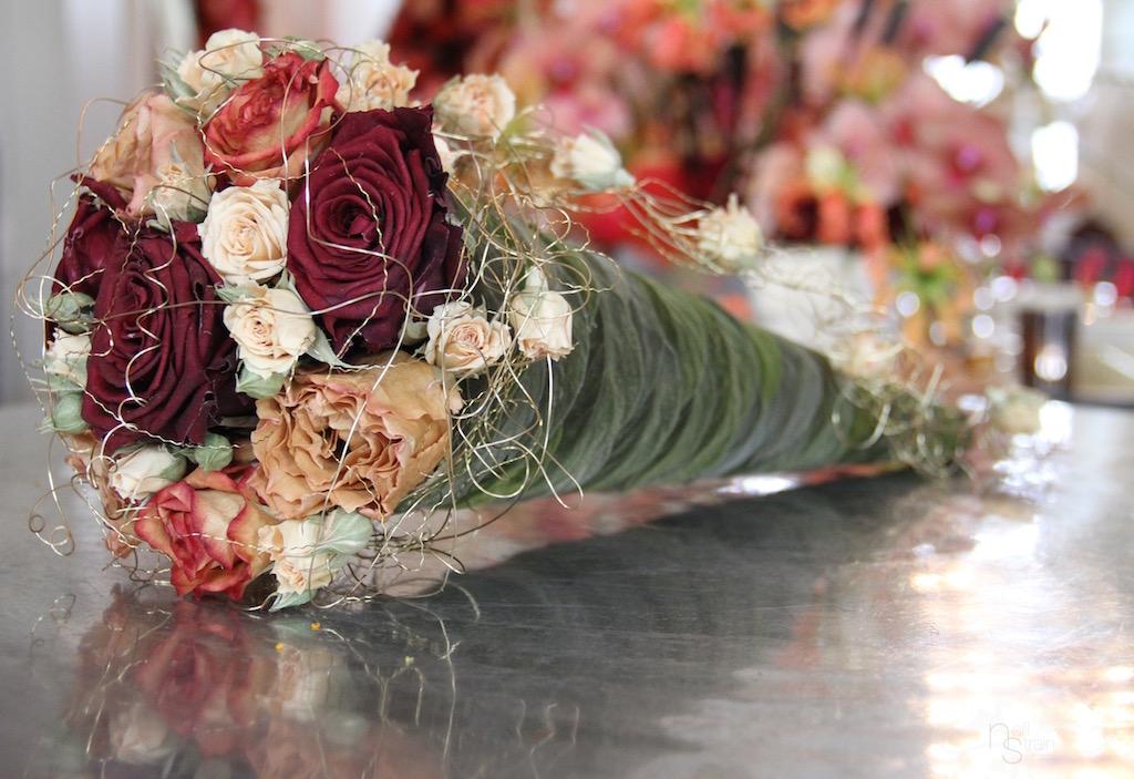 Elegant Cone Bouquet with Roses