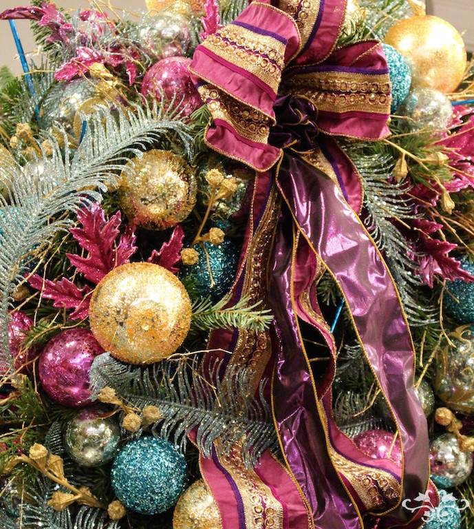 Clients may choose their decorations from the boutique and we create the wreath according to their wishes