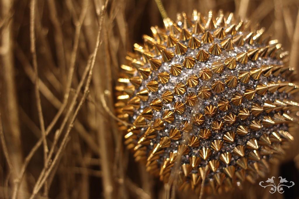 Neill Strain Christmas gold baubles.jpg